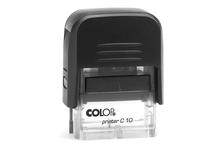 Automātiskais taisnstūra zīmogs Colop C10 Compact (gatavs lietošanai).