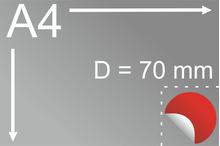 Uzlīmes komplekts Ø 70 mm, apaļas formas
