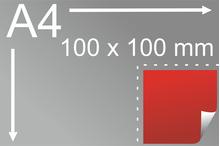 Uzlīmes komplekts 100 x 100 mm, kvadrāta formas