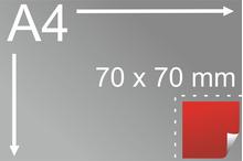 Uzlīmes komplekts 70 x 70 mm, kvadrāta formas