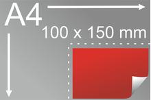 Uzlīmes komplekts 100 x 150 mm, taisnstūra forma