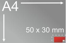 Uzlīmes komplekts 25 x 50 mm, taisnstūra form