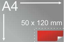 Uzlīmes komplekts 50 x 120 mm, taisnstūra forma
