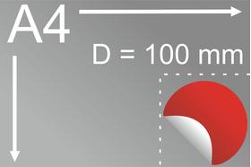 Uzlīmes komplekts Ø 100 mm, apaļas formas