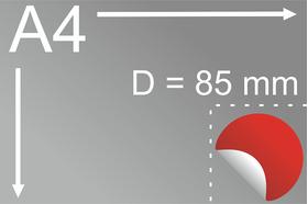 Uzlīmes komplekts Ø 85 mm, apaļas formas