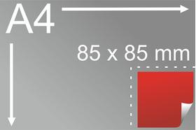 Uzlīmes komplekts 85 x 85 mm, kvadrāta formas