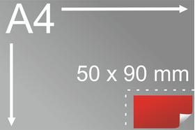 Uzlīmes komplekts 50 x 90 mm, taisnstūra forma