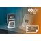 Taisnstūra datumzīmogs Colop S 160 Mini Dater, gatavs lietošanai.