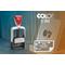 Taisnstūra datumzīmogs Colop S 360 Dater, gatavs lietošanai.